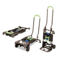 Cosco 2-in-1 Multi-Position Hand Truck and Cart, 16 5/8 x 12 3/4 x 49 1/4, Blue/Green CSC12222PBG1E