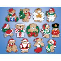 Lots Of Bears Ornaments Felt Applique Kit NOTM435149