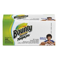 Bounty Quilted Napkins, 1-Ply, 12 1/10 x 12, White, 200/Pack PGC96595PK