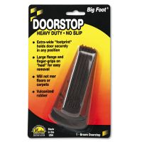 Master Caster Big Foot Doorstop, No Slip Rubber Wedge, 2 1/4w x 4 3/4d x 1 1/4h, Brown MAS00920