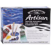 Winton Artisan Water Mixable Oil Paints 21ml 6/Pkg NOTM451367