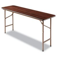 Alera Wood Folding Table, Rectangular, 60w x 18d x 29h, Mahogany ALEFT726018MY
