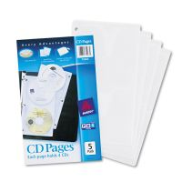 Avery Two-Sided CD Organizer Sheets for Three-Ring Binder, 5/Pack AVE75263
