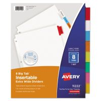Avery Insertable Big Tab Dividers, 8-Tab, Multi-color Tab, Letter, 1 Set AVE11222