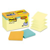 Post-it Pop-up Notes Original Pop-up Notes Value Pack, 3 x 3, Canary/Cape Town, 100-Sheet, 18/Pack MMMR330144B