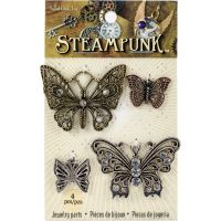 Steampunk Metal Accents 4/Pkg NOTM335420