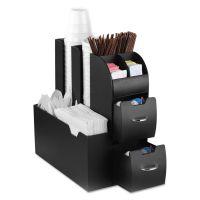 Mind Reader Coffee Condiment Caddy Organizer, 5 2/5 x 11 x 12 3/5, Black EMSCAD01BLK