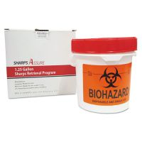 TrustMedical Sharps Retrieval Program Containers, 1.25 gal, Plastic, Red TMDSC1G42425G