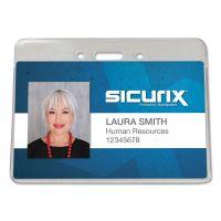 SICURIX Sicurix Proximity Badge Holder, Horizontal, 4w x 3h, Clear, 50/Pack BAU47810