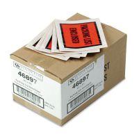 Quality Park Full Print Self Adhesive Packing List Envelope, Orange, 5 1/2 x 4 1/2, 1000/Box QUA46897