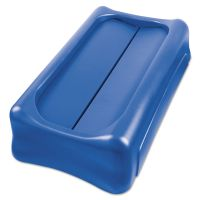"""Rubbermaid Commercial Slim Jim Swing Lid, 11 2/5"""" x 5"""", Blue RCP267360BLUCT"""