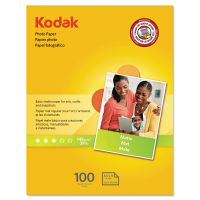 Kodak Photo Paper, Matte, 7 mil, 8-1/2 x 11, 100 Sheets/Pack KOD8318164