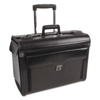 Catalog Case on Wheels, Leather, 19 x 9 x 15-1/2, Black BND546110BLK
