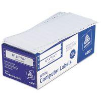 Avery Dot Matrix Mailing Labels, 1 Across, 15/16 x 4, White, 5000/Box AVE4065