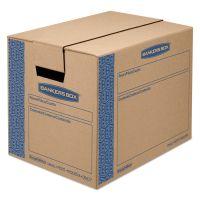 Bankers Box SmoothMove Prime Small Moving Boxes, 16l x 12w x 12h, Kraft/Blue, 10/Carton FEL0062701
