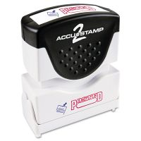 ACCUSTAMP2 Pre-Inked Shutter Stamp, Red/Blue, POSTED, 1 5/8 x 1/2 COS035521