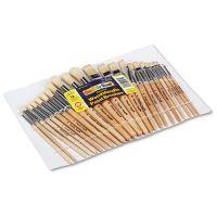 Creativity Street Preschool Brush Set, Sizes 1-12, Natural Bristle, Flat; Round, 24/Set CKC5172
