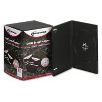 Innovera Standard DVD Case, Black, 10/Pack IVR72810