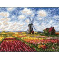 Tulip Fields Counted Cross Stitch Kit NOTM498058