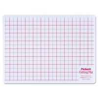 Chartpak Self-Healing Cutting Mat, 8 1/2 x 12, White Translucent W/Red Lines CHAWCM812