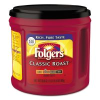 Folgers Coffee, Classic Roast, Ground, 30.5 oz Canister (Makes 240 Cups) FOL20421EA