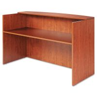 Alera Valencia Series Reception Desk w/Counter, 71w x 35 1/2d x 42 1/2h,  Cherry ALEVA327236MC