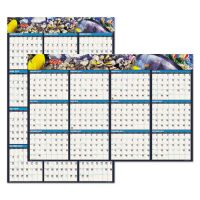 House of Doolittle Recycled Earthscapes Sea Life Scenes Reversible Wall Calendar, 24 x 37, 2019 HOD3969