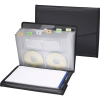 Smead 85830 Black Poly Pro Series II Pad Folio with Expanding File SMD85830
