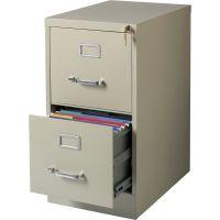 Lorell Commercial-Grade 2 Drawer Vertical File Cabinet LLR42290