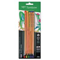 Tombow Recycled Colored Pencils, Natural Wood, Recycled Cedar, Artist Quality, 5/ST TOM61550