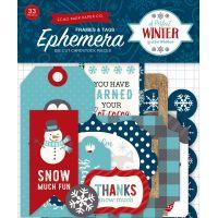 A Perfect Winter Ephemera Cardstock Die-Cuts 33/Pkg NOTM067857