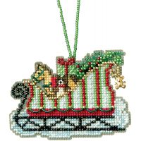 Toyland Sleigh Counted Cross Stitch Kit NOTM052783