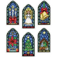 Stained Glass Ornaments Counted Cross Stitch Kit NOTM052884