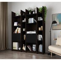 Bestar Small Space Storage Wall Unit in Dark Chocolate and Black BESBES1685479
