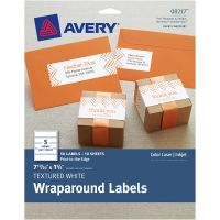 "Textured Wraparound Labels 7-17/20""X1-3/4"" 50/Pkg NOTM436298"