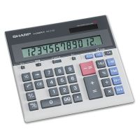 Sharp QS-2130 Compact Desktop Calculator, 12-Digit LCD SHRQS2130
