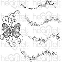 "Heartfelt Creations Cling Rubber Stamp Set 5""X6.5"" NOTM466675"