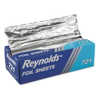 Reynolds Wrap Pop-Up Interfolded Aluminum Foil Sheets, 12 x 10 3/4, Silver, 500/Box RFP721BX