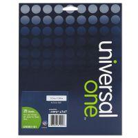 Universal Laser Printer Permanent Labels, 1/2 x 1-3/4, Clear, 2000/Box UNV81101