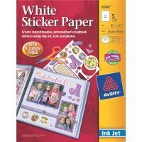 "Ink Jet Sticker Paper W/CD 8.5""X11"" NOTM322497"