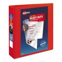 """Avery Heavy-Duty 3-Ring View Binder w/Locking 1-Touch EZD Rings, 2"""" Capacity, Red AVE79225"""