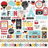 "Wish Upon A Star Cardstock Stickers 12""X12"" NOTM337014"