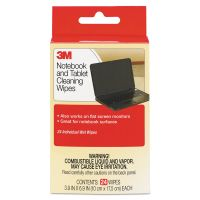 3M Notebook Screen Cleaning Wet Wipes, Cloth, 7 x 4, White, 24/Pack MMMCL630