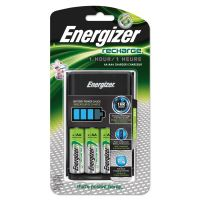 Energizer Recharge 1 Hour Charger, AA or AAA NiMH Batteries, 3 per carton EVECH1HRWB4