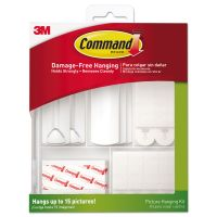 Command Picture Hanging Kit, White/Clear, Assorted MMM17213ES