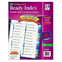 Avery Ready Index Customizable Table of Contents Double Column Dividers, 24-Tab, Ltr AVE11321
