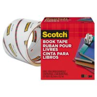 """Scotch Book Repair Tape, 3"""" x 15yds, 3"""" Core, Clear MMM8453"""