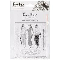 """Crafty Individuals Unmounted Rubber Stamp 4.75""""X7"""" Pkg NOTM082673"""