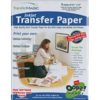 """Ink Jet Transfer Paper 8.5""""X11"""" 6/Pkg NOTM221373"""