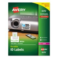 Avery Permanent ID Labels w/TrueBlock Technology, Laser, 1 1/4 x 1 3/4, White, 1600/PK AVE6576